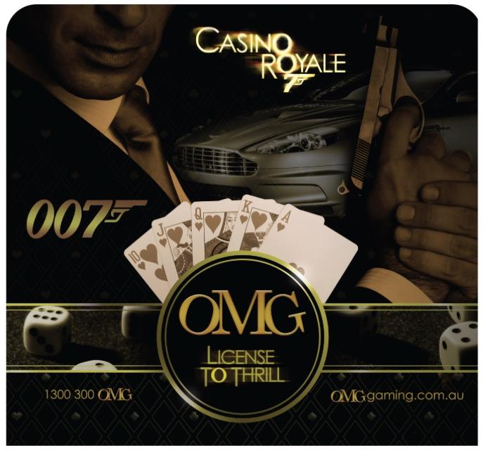 Casino Royale Theme Wall